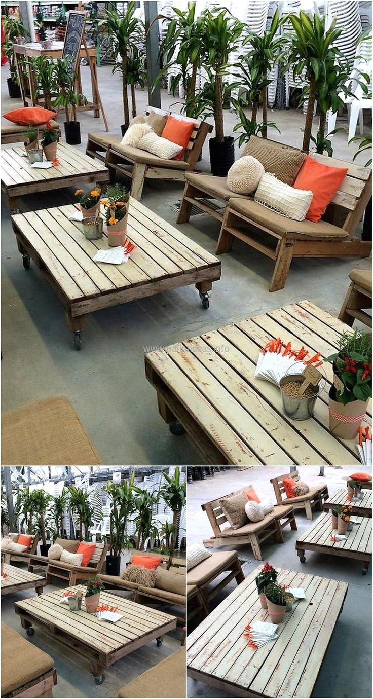here we will share the idea of creating the outdoor furniture using the pallets as well