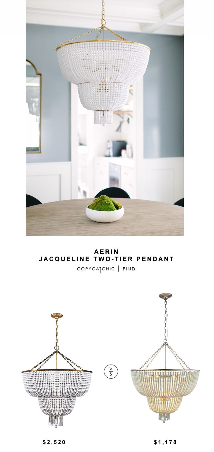 aerin jacqueline two tier pendant