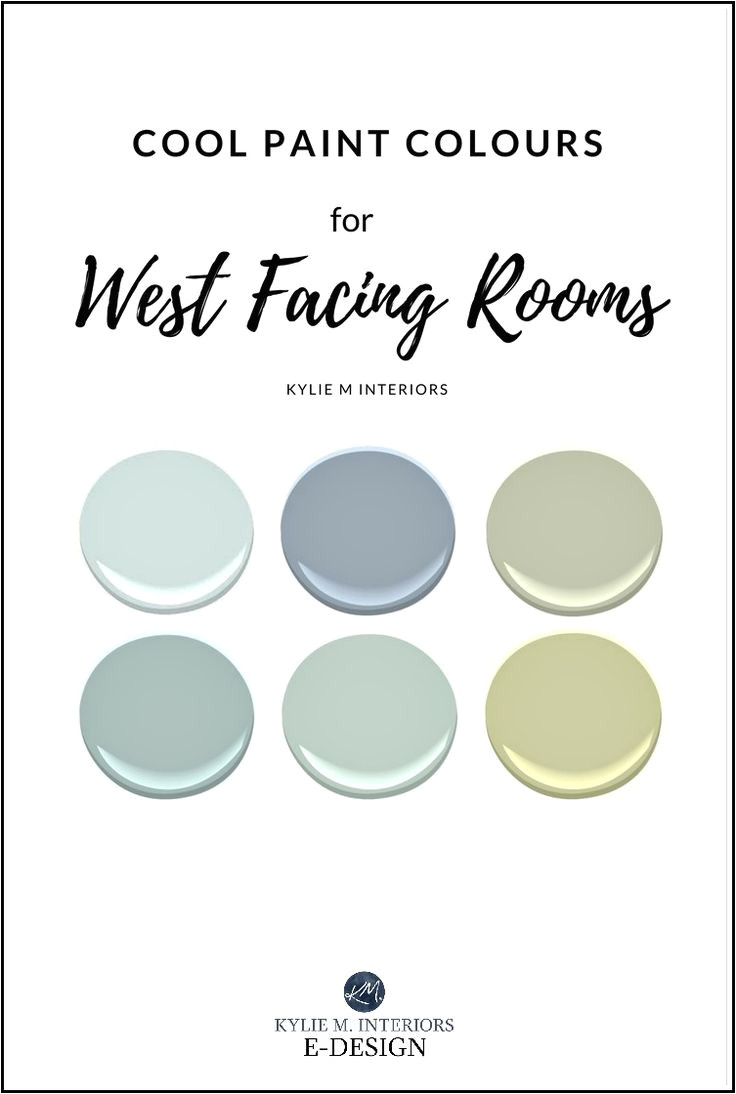 best paint colours for west facing room exposure benjamin moore sherwin williams cool