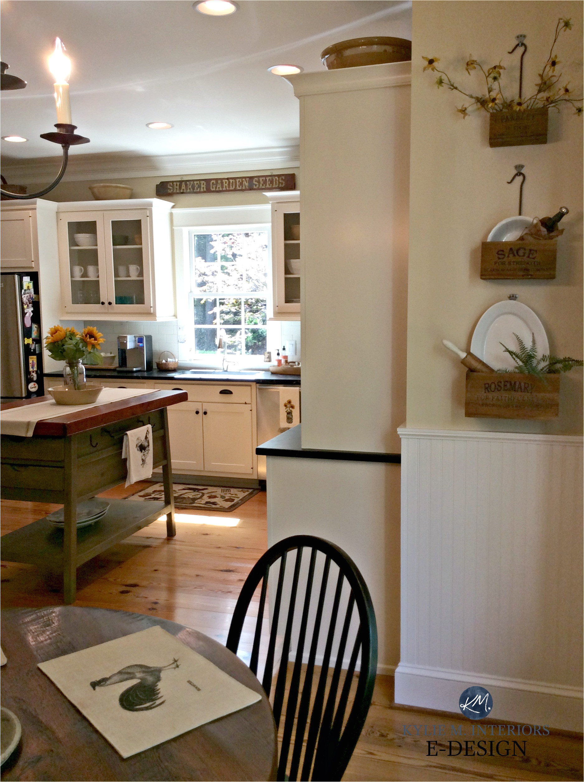 benjamin moore powell buff in country farmhouse kitchen kylie m e design jpg