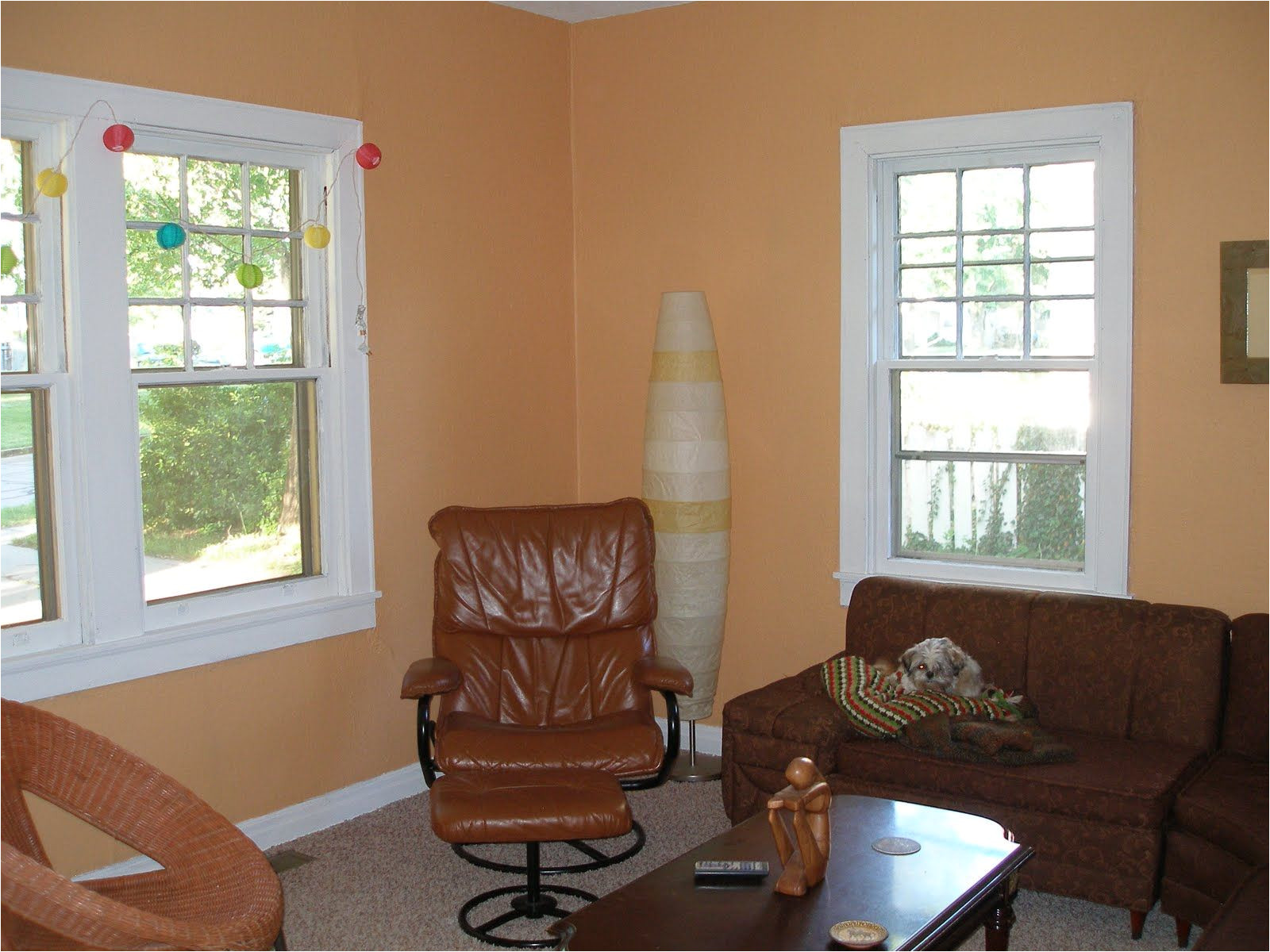 benjamin moore s ansonia peach okay while i m not particularly fond of this color it is the room that this color doesn t fit in