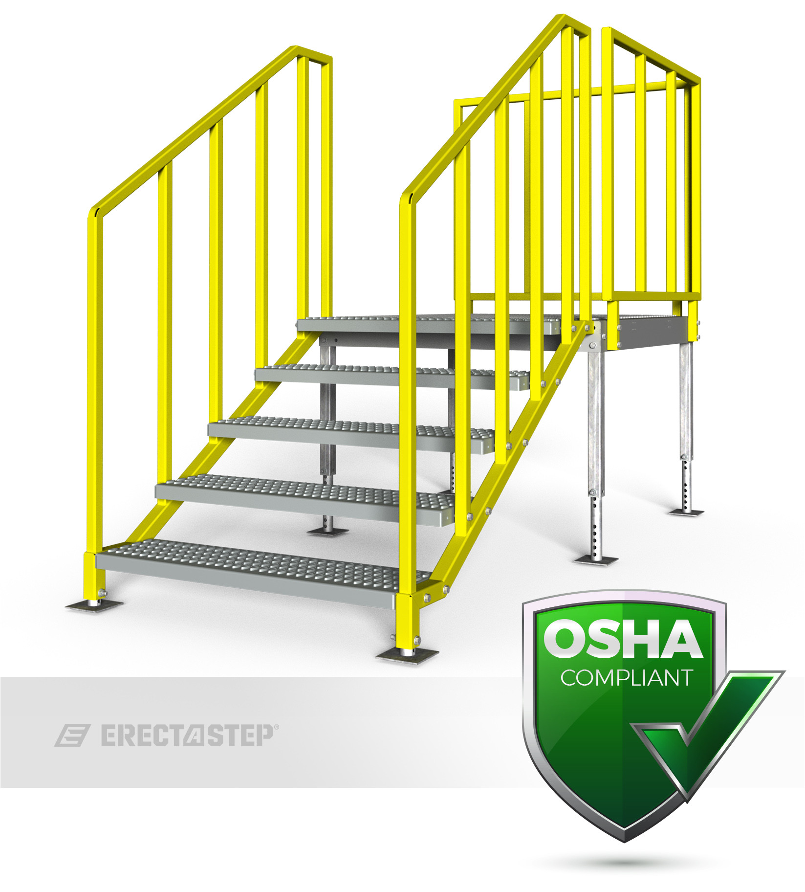 erectastep portable metal stairs provide a fast easy solution for temporary or portable metal stair needs available in 7 sizes from 28 63 711mm
