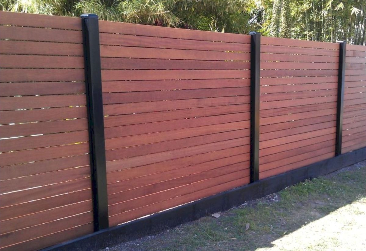 awesome modern front yard privacy fences ideas 63