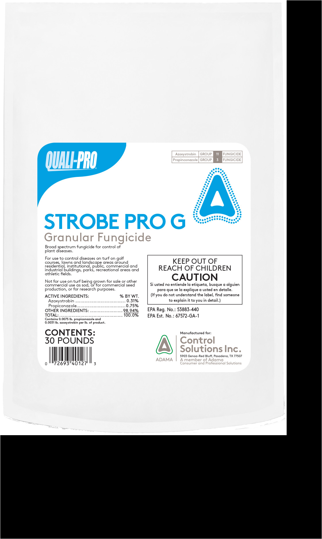 strobe pro g granular fungicide is a combination of two broad spectrum preventative and