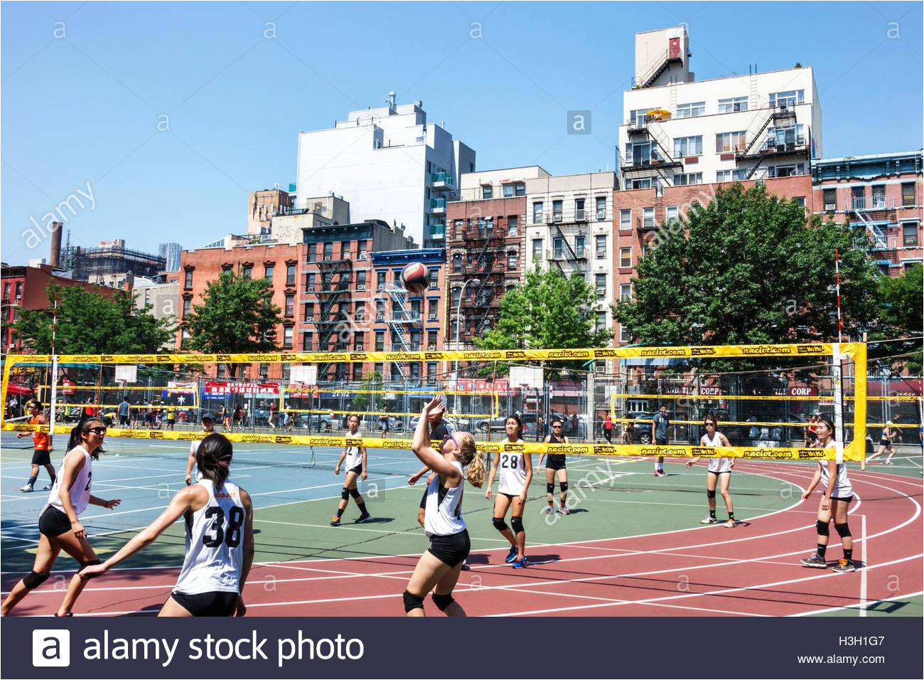 lower manhattan new york city nyc ny chinatown seward park public park athletic field recreational sports