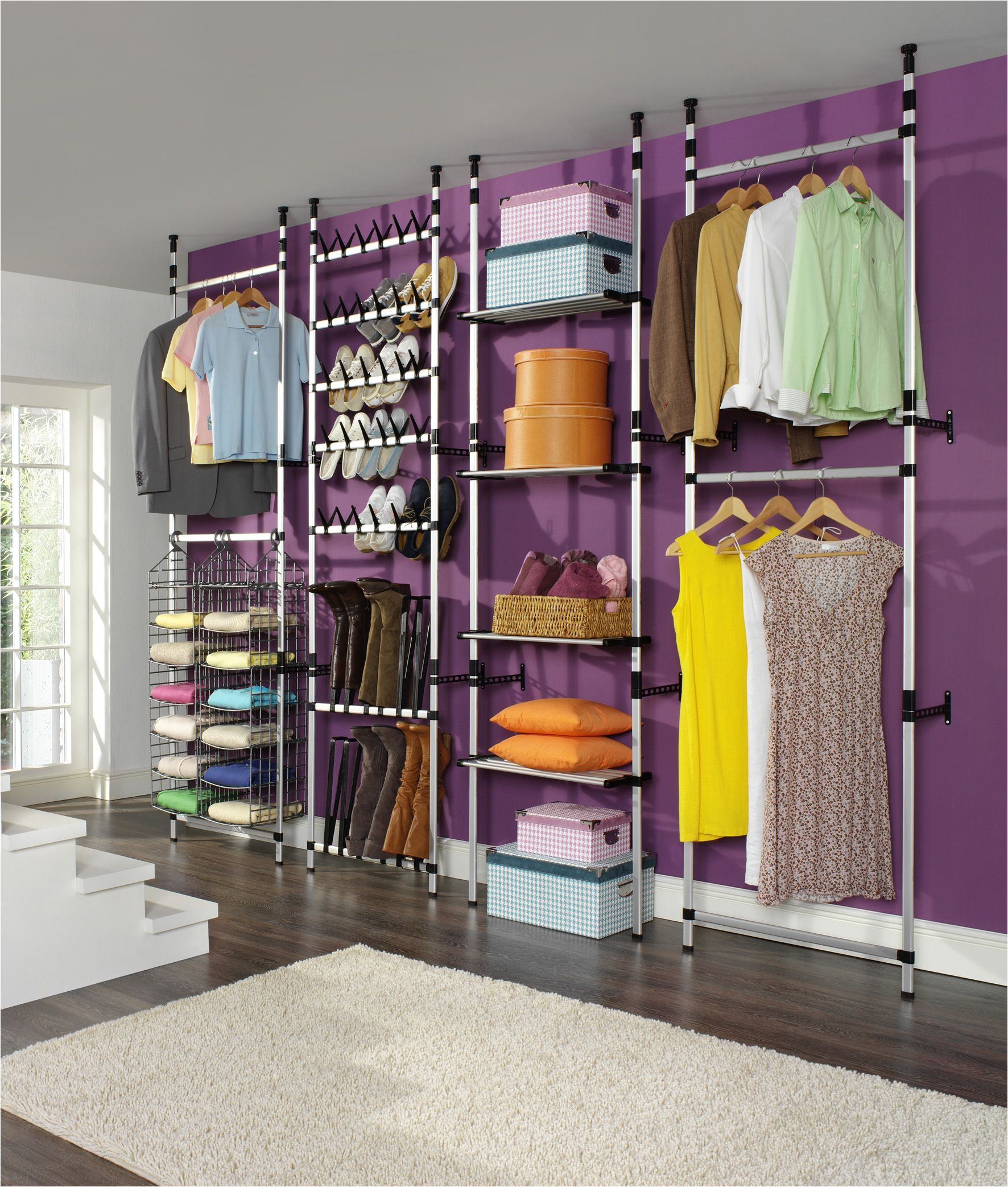 an innovative and versatile storage solution for clothes shoes hats and more