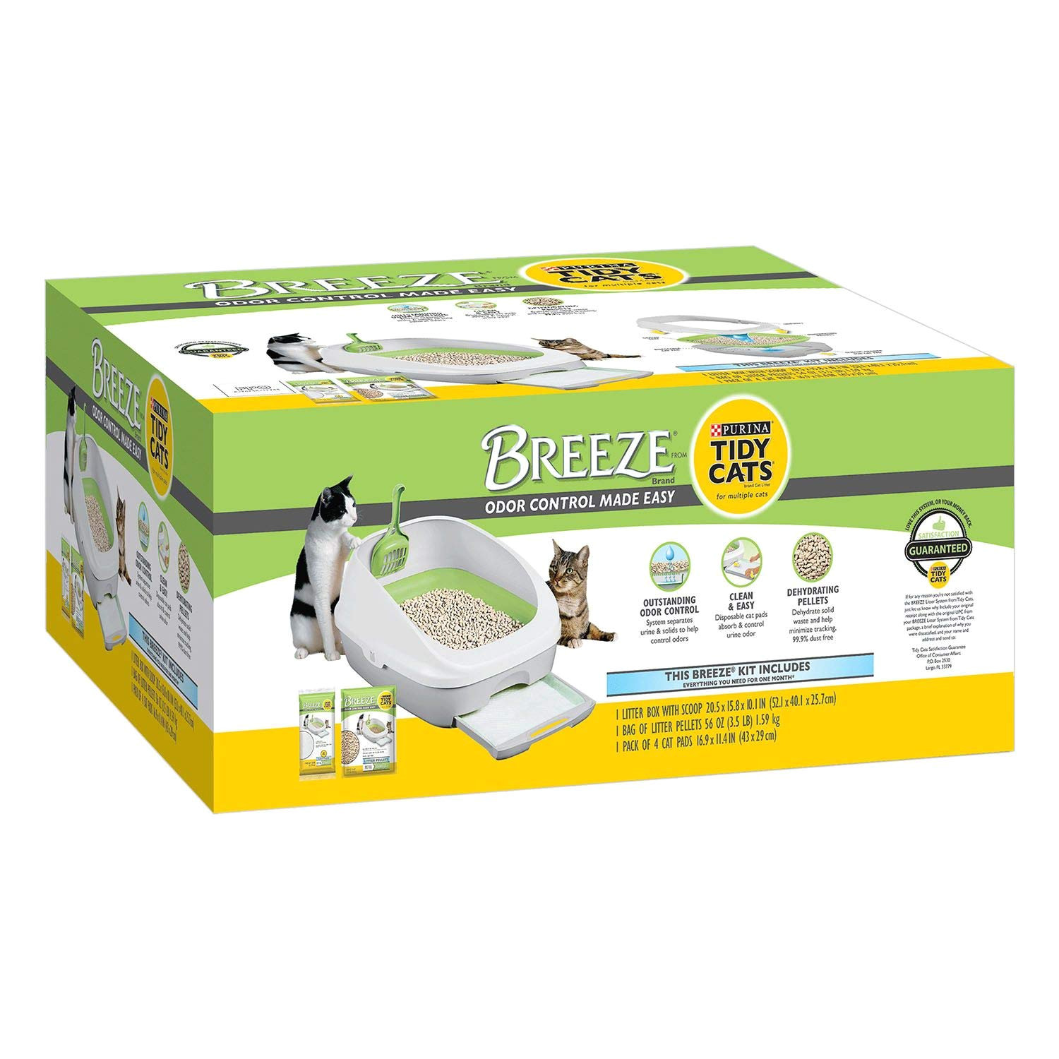 amazon com breeze cat litter box starter kit for multiple cats box pet supplies