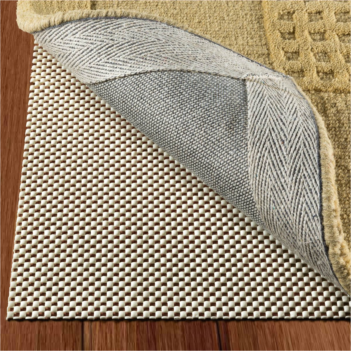 amazon com doublecheck products non slip rug pad size 5 x 7 extra strong grip thick padding and kitchen dining