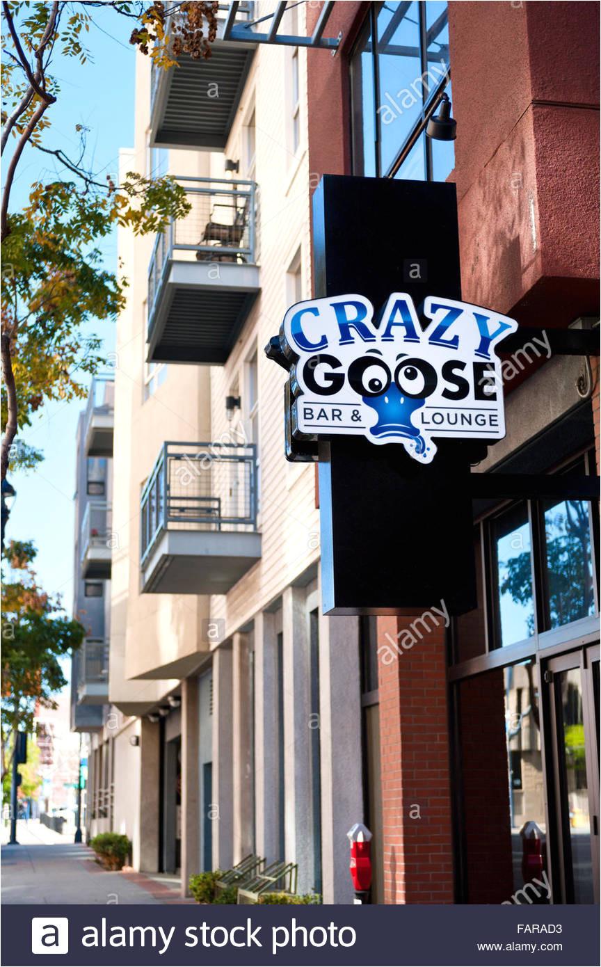 crazy goose bar lounge im gas light district von san diego kalifornien stockbild