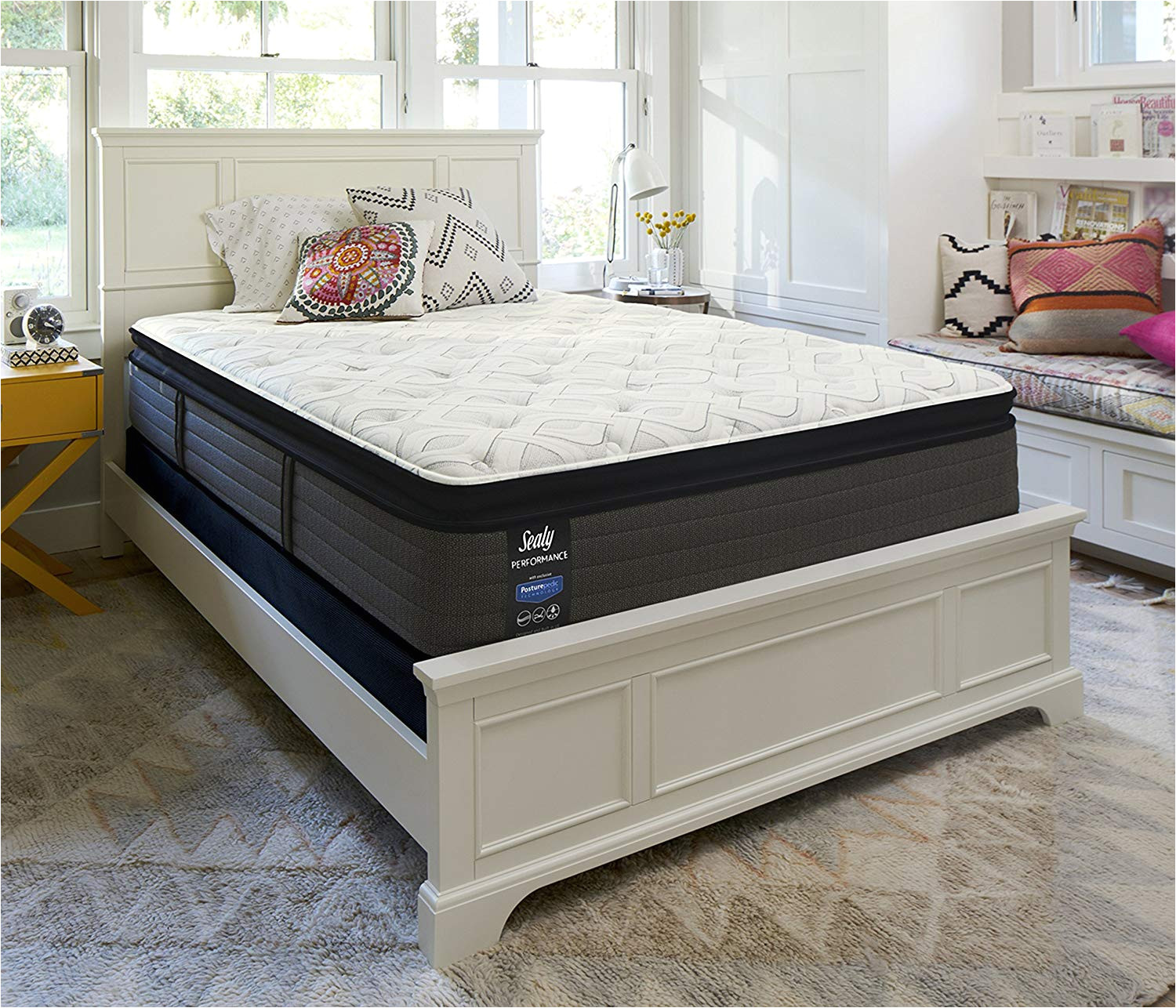 amazon com sealy response performance 14 inch cushion firm euro pillow top pro mattress queen made in usa 10 year warranty kitchen dining
