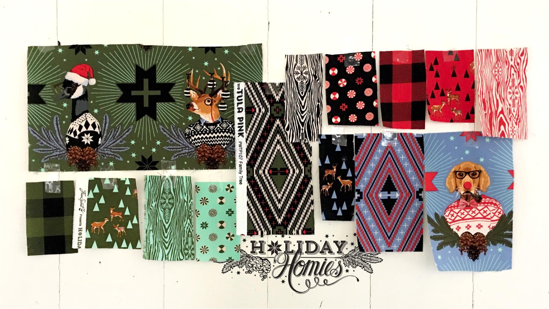 holiday homies for freespirit fabrics
