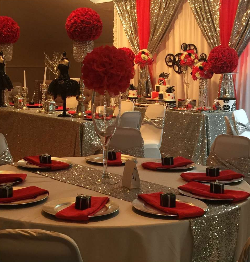 lovely table at a hollywood quinceaa era birthday party see more party ideas at catchmyparty com