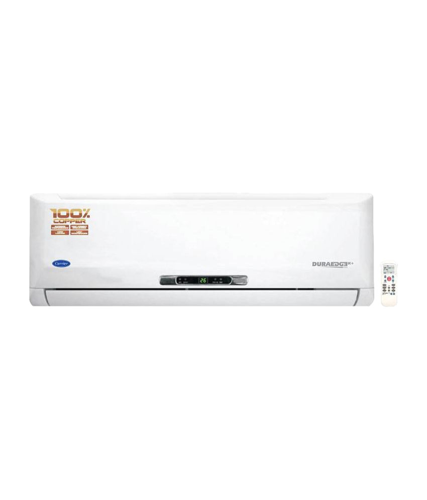 carrier 1ton 3star duraedge split air conditioner cyclojet 2017 model