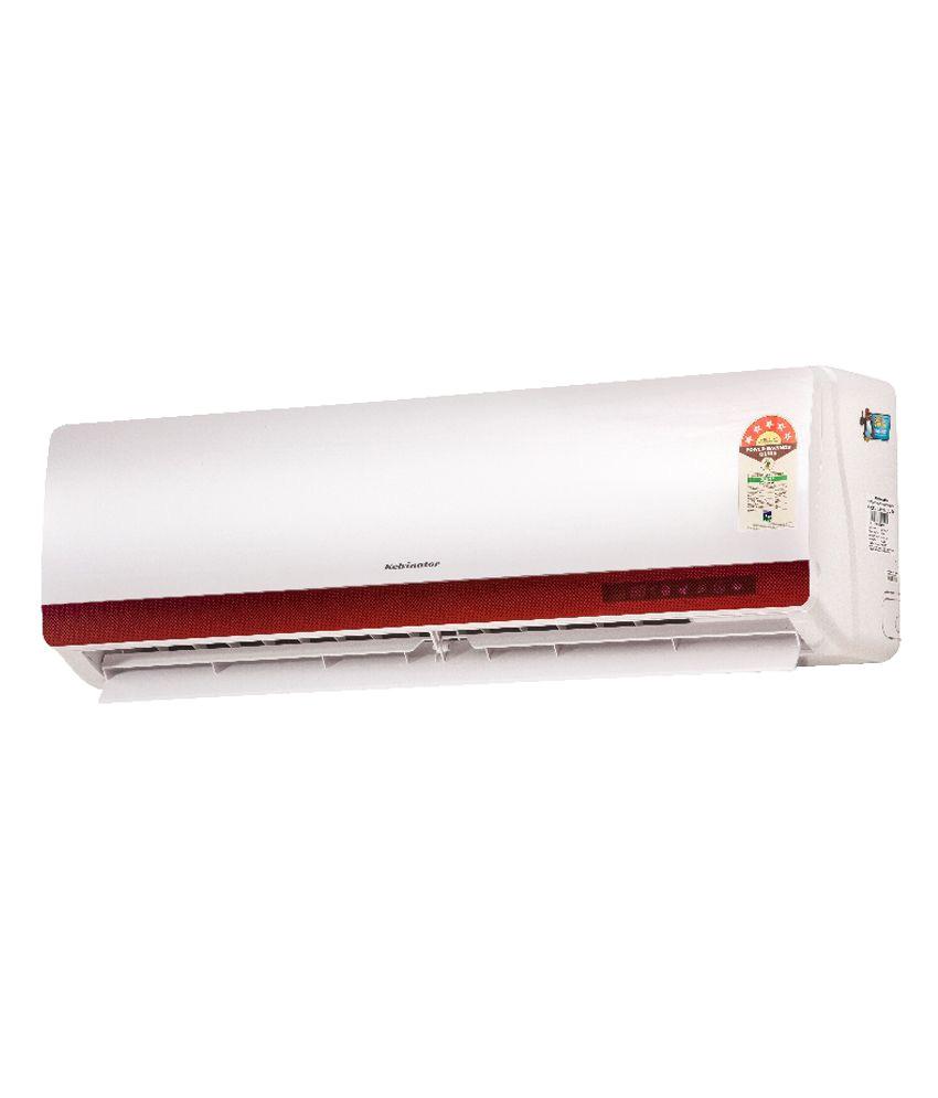 kelvinator 1 ton 5 star lsj35 ws1 qdl mda split air conditioner