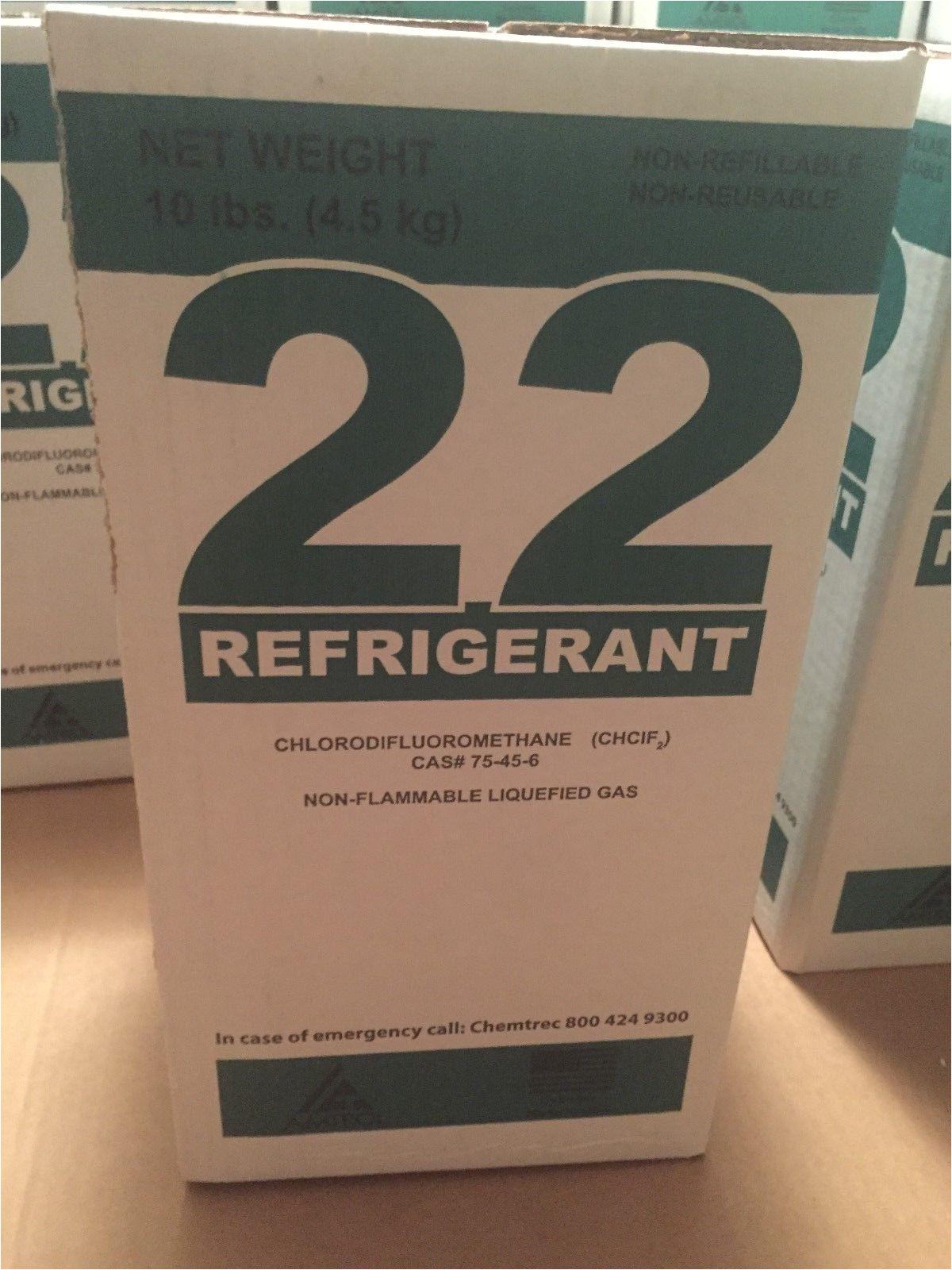 r22 r 22 r 22 refrigerant 10 lb s virgin 10 pound cylinder usa made ebay