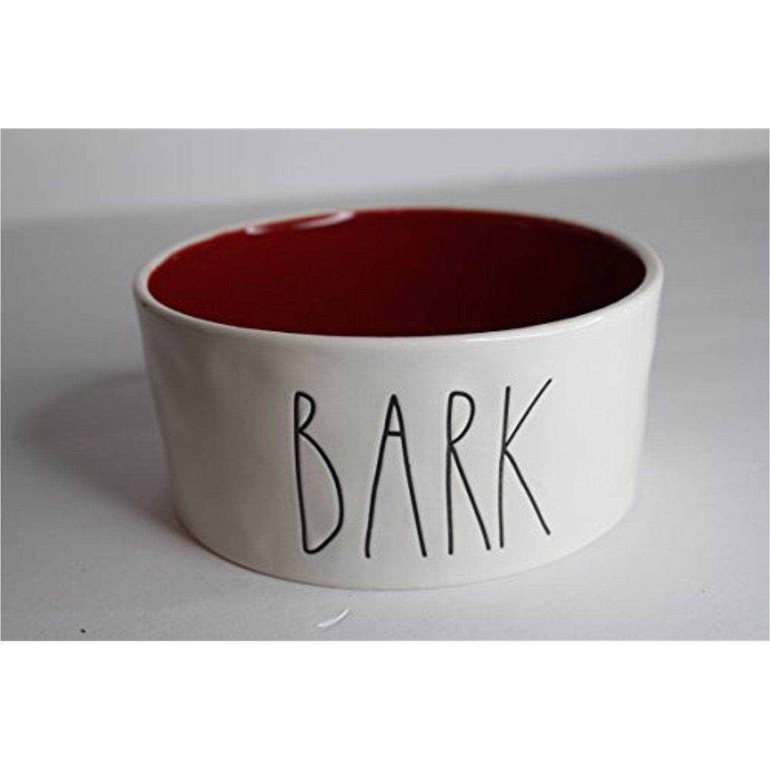 rae dunn magenta ceramic large pet food bowl cat dog dish bark cream red see this great product this is an affiliate link