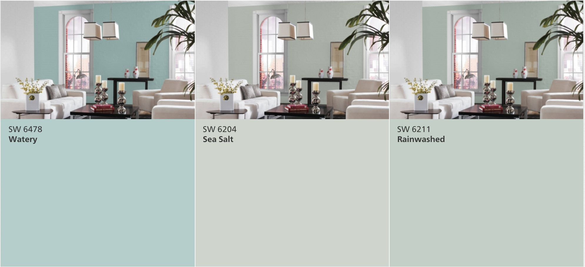 sherwin williams watery vs sea salt vs rainwashed real life results went with