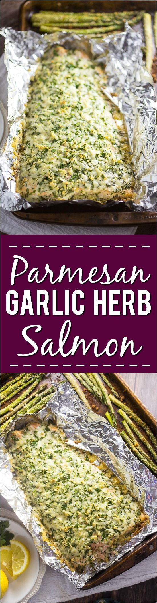 parmesan garlic herb salmon recipe receta de cena familiar rapida y facil pero