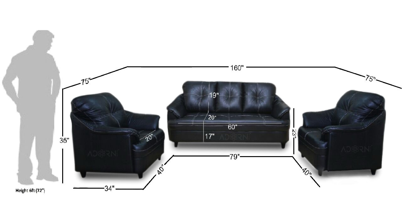 Recliner Chair Under 10000 Adorn India Webster Five Seater sofa Set 3 1 1 Black Amazon In