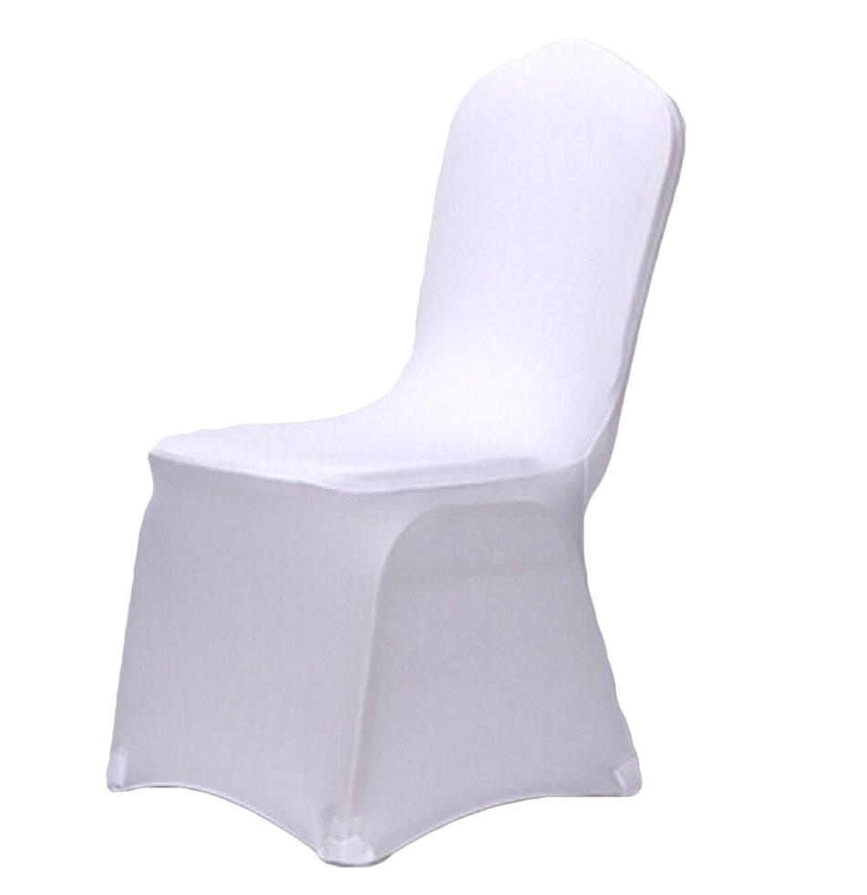 stretch a lastique blanc spandex de mariage housses de chaise pour les mariages banquet ha tel polyester tissu spandex de mariage chaise ms087