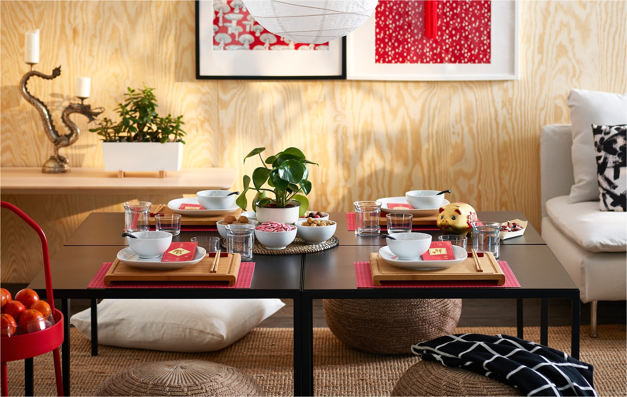 setting the table with some rimforsa chopping boards in bamboo is one idea on how to