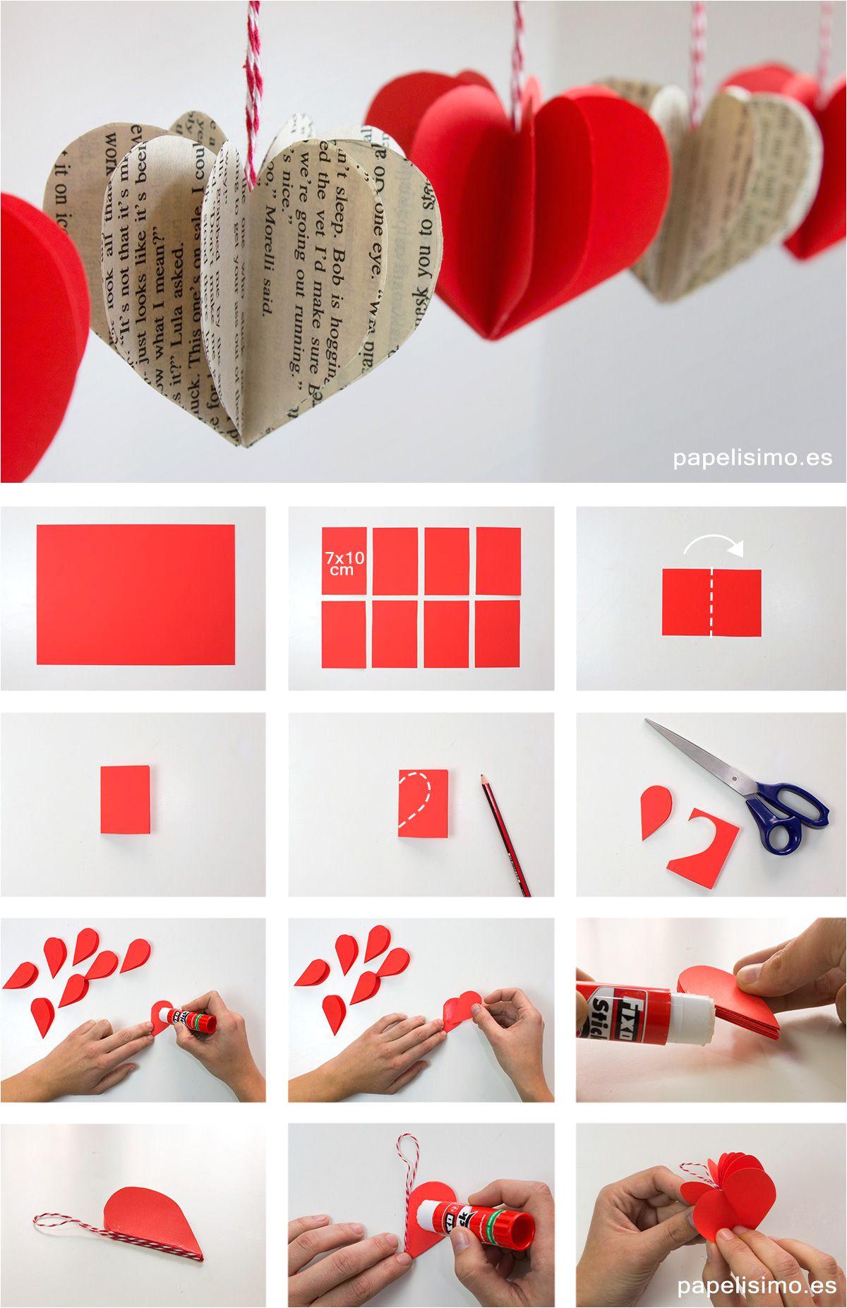 tutorial ca mo hacer corazones 3d de papel estos corazones de papel son faciles y rapidos de hacer y quedan bien con cualquier tipo de papel