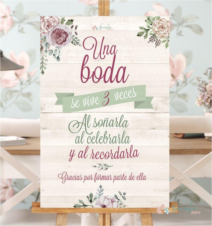 cartel una boda se vive tres veces mas