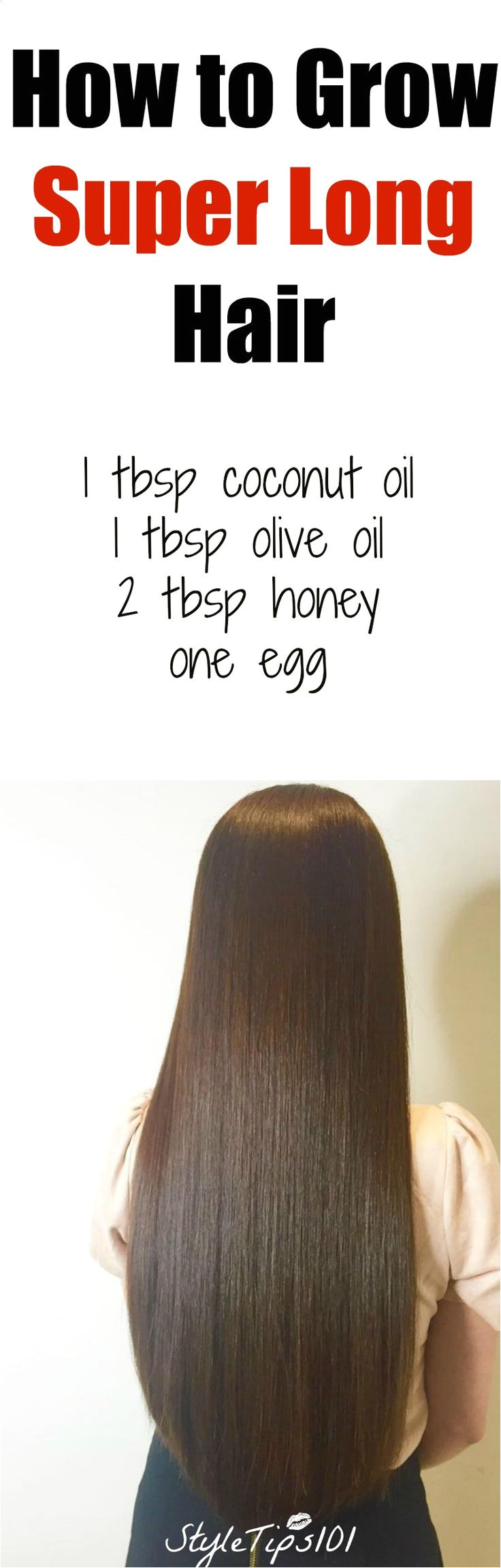 how to grow super long hair you ll need 1 tbsp coconut oil 1
