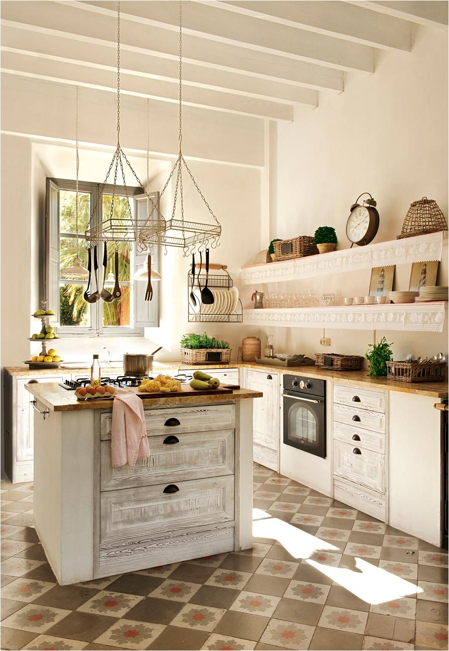 20 cocinas r sticas bonitas con muebles vintage y mucho for cocinas actuales pequenas
