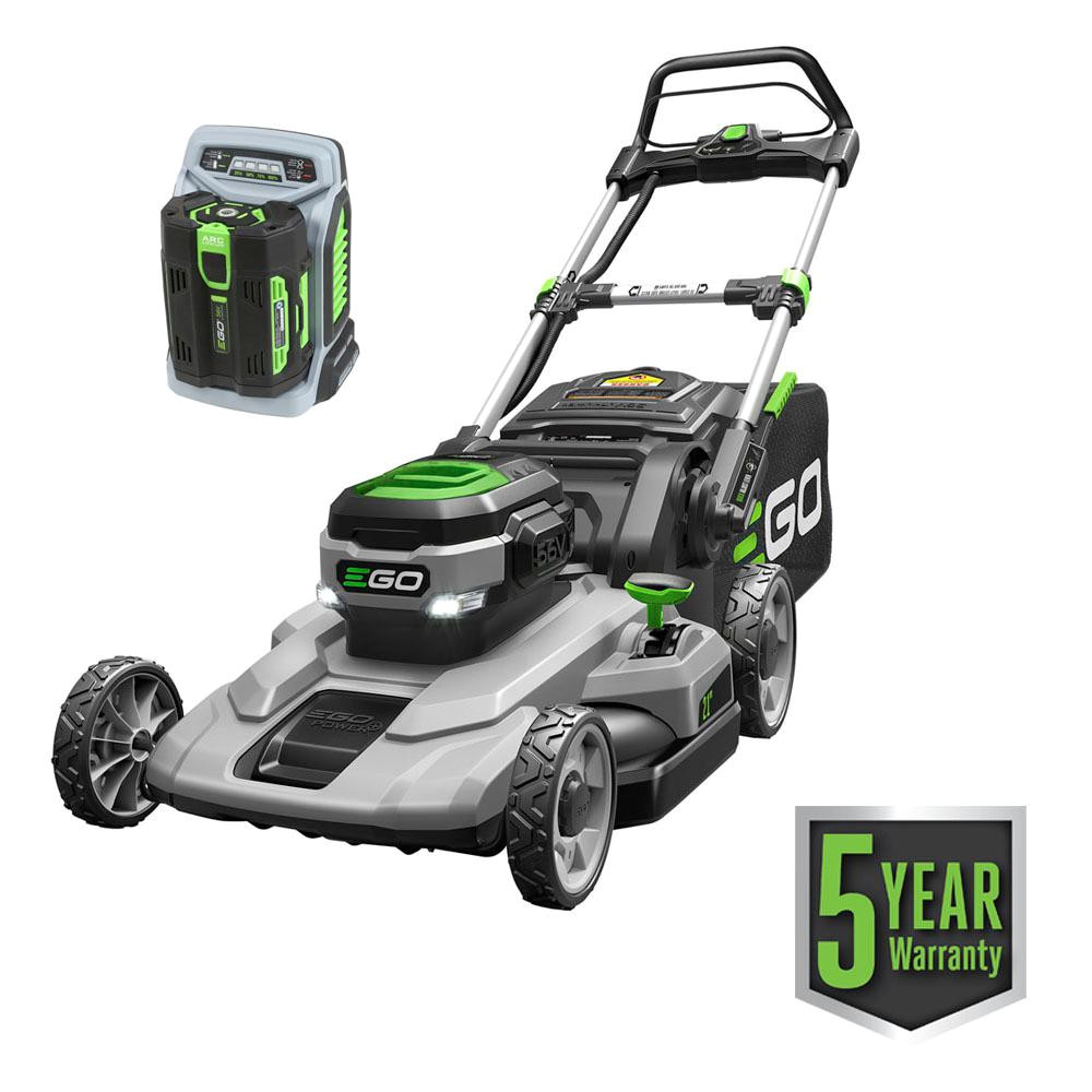 21 in 56 volt lithium ion cordless battery walk behind push mower 5 0