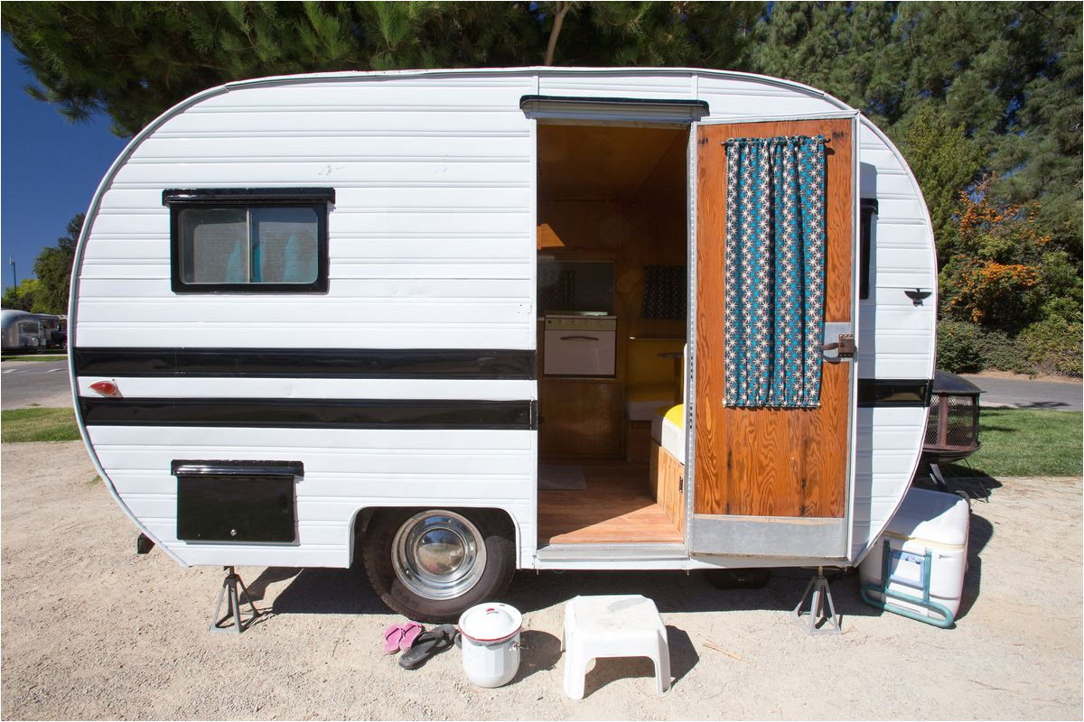 old school campers are affordable and boast plenty of character