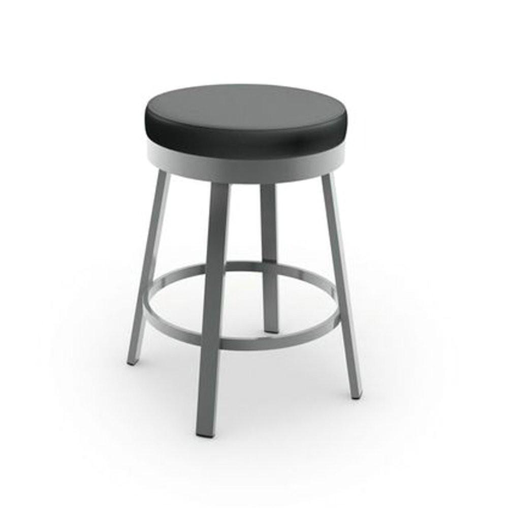 amazon com amisco clock swivel metal counter stool 26 inch grey metal and mat charcoal black polyurethane kitchen dining