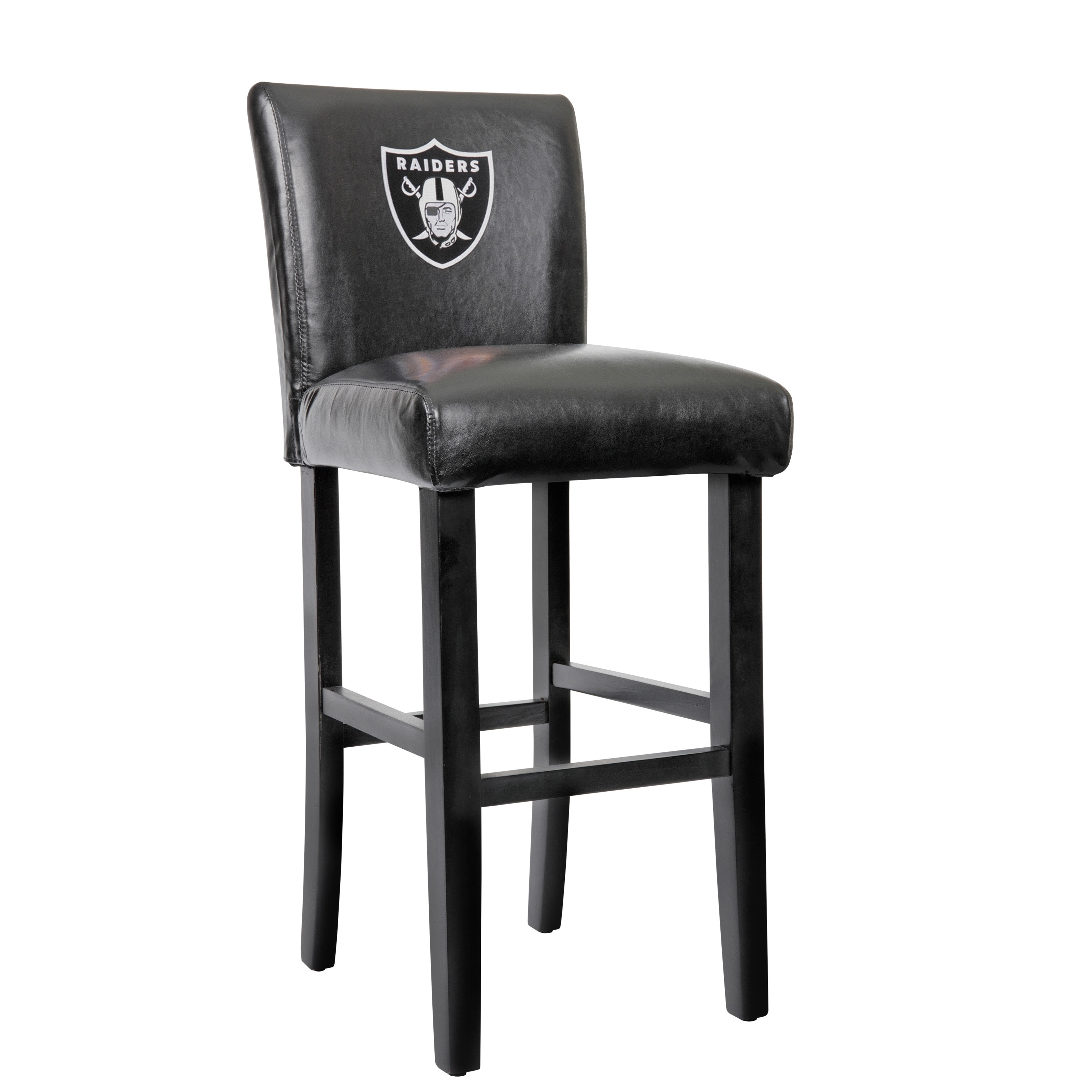 solid wood swivel bar stools collection shop oakland raiders model 30or ficially licensed 30 inch