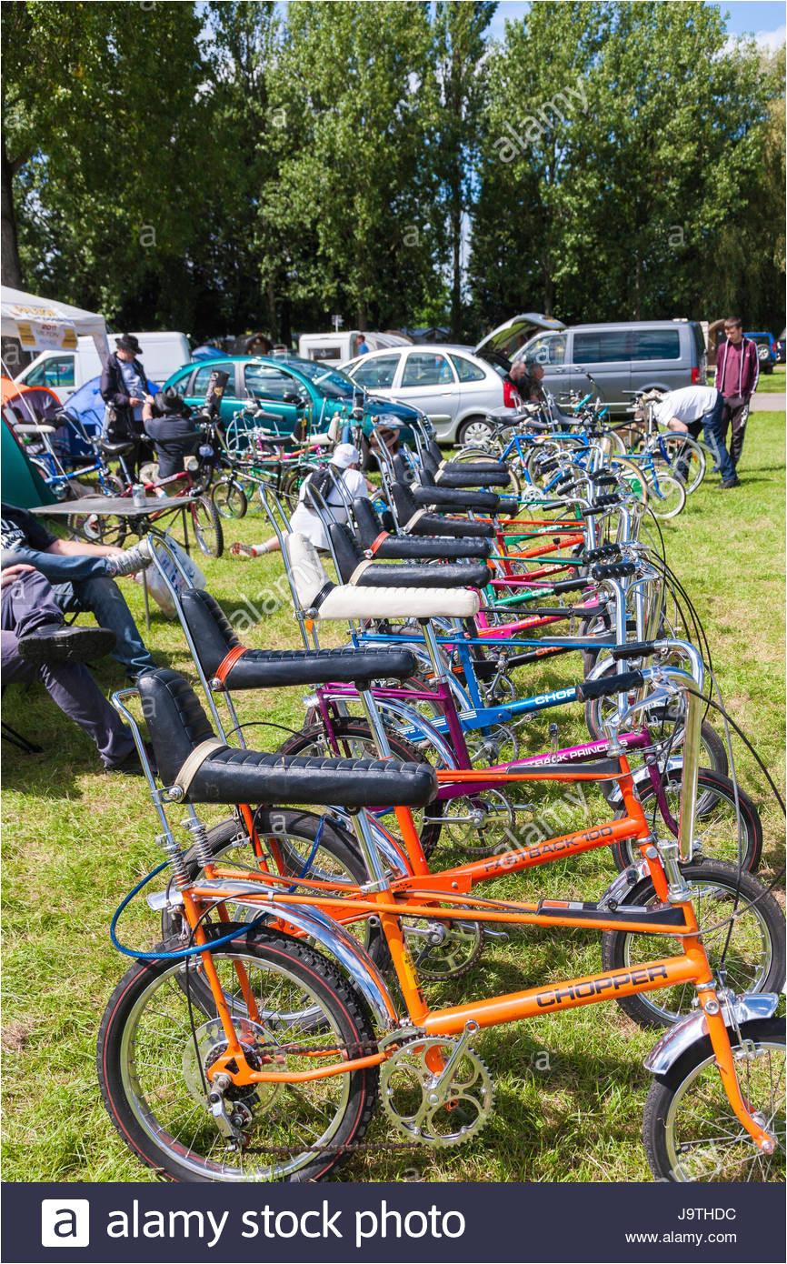 billing aquadrome northampton groa britannien 3 juni 2017 raleigh chopper und muscle bike
