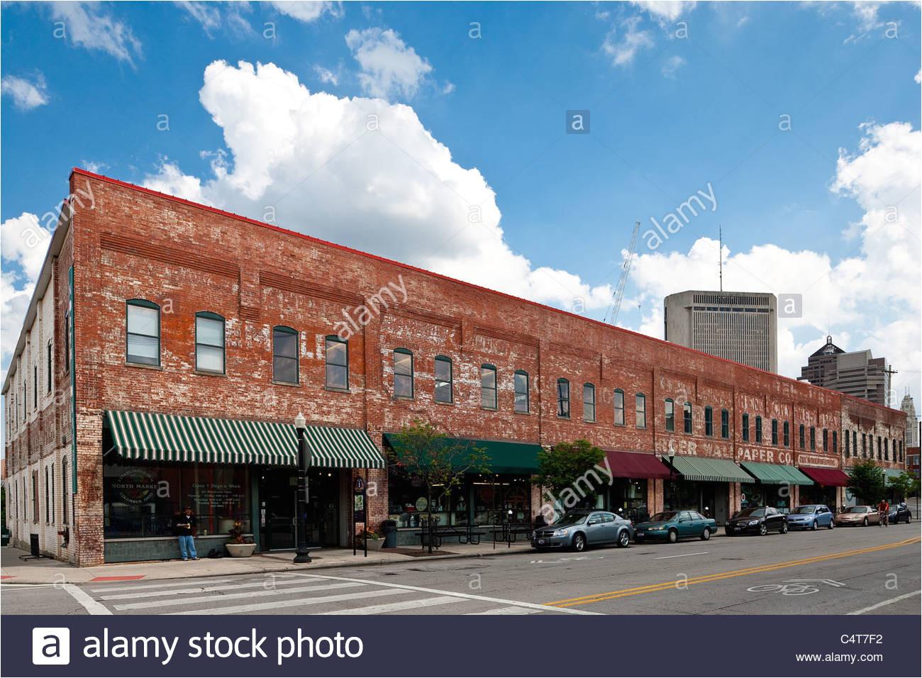 north market building located in the short north area of columbus ohio stock image