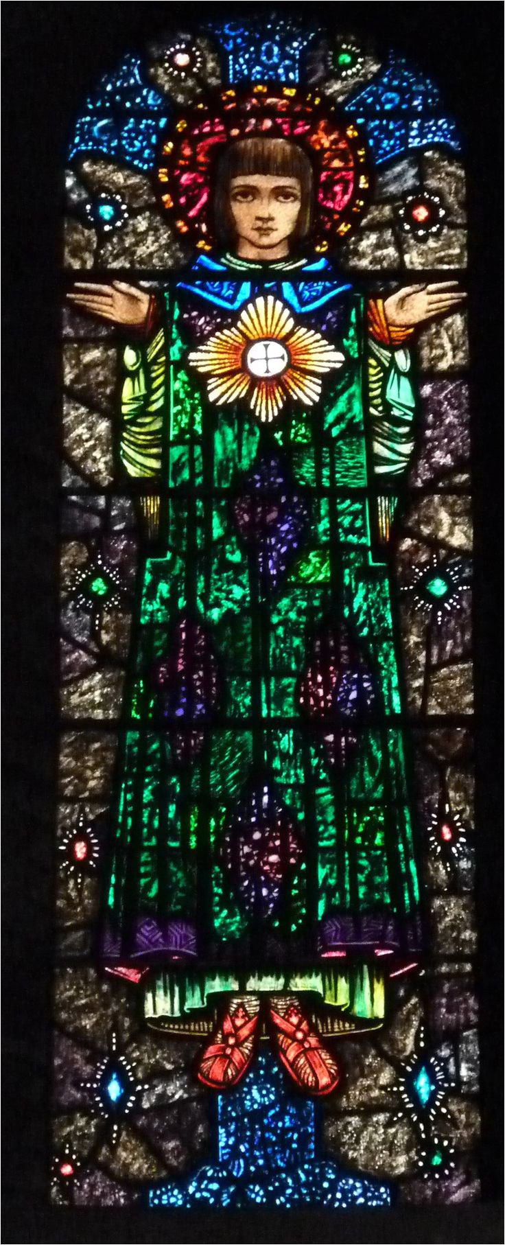 stained glass window by harry clark edmund in ashton in makerfield england photographed by lightworks stained glass