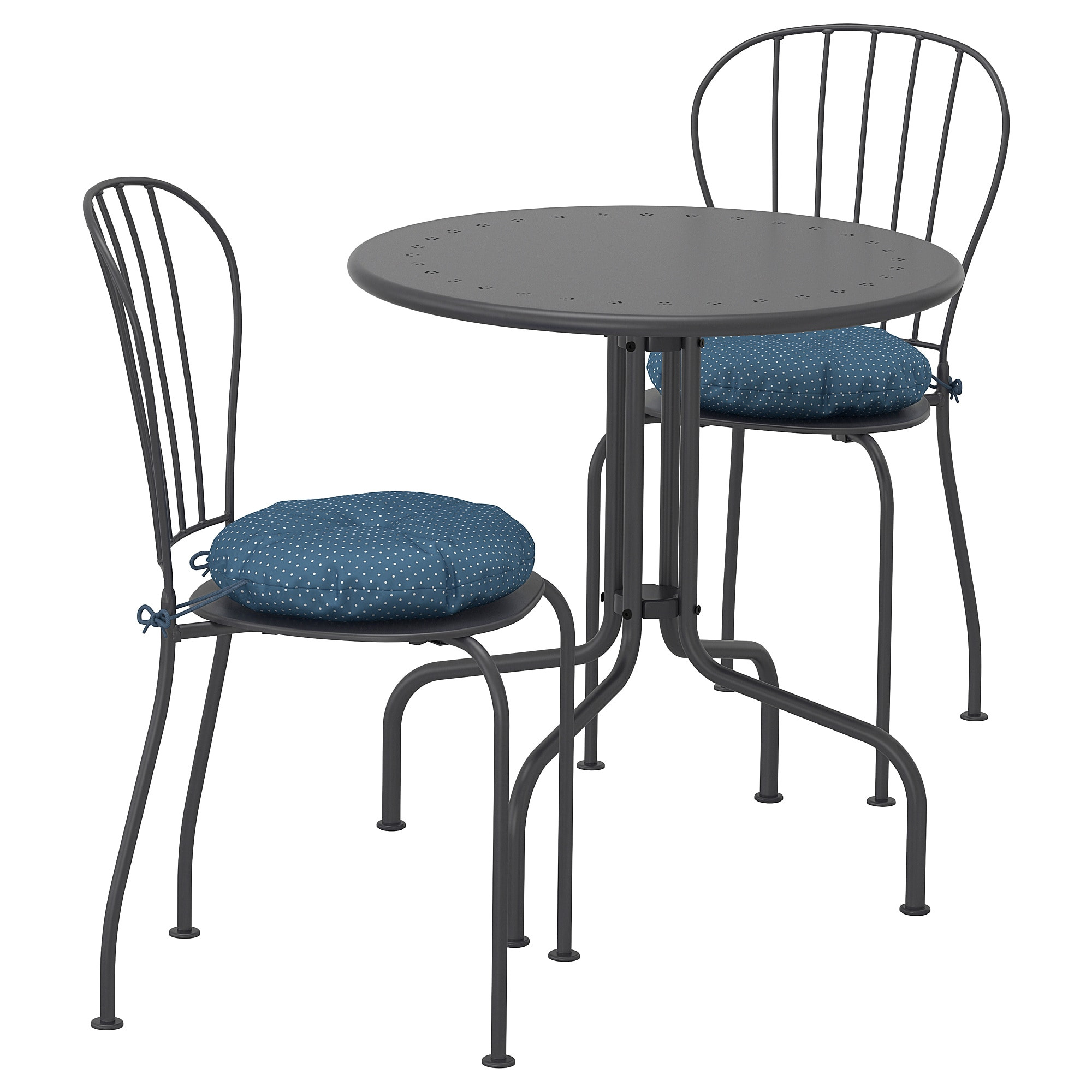 ikea la cka table 2 chairs outdoor the drain hole in the seat lets water