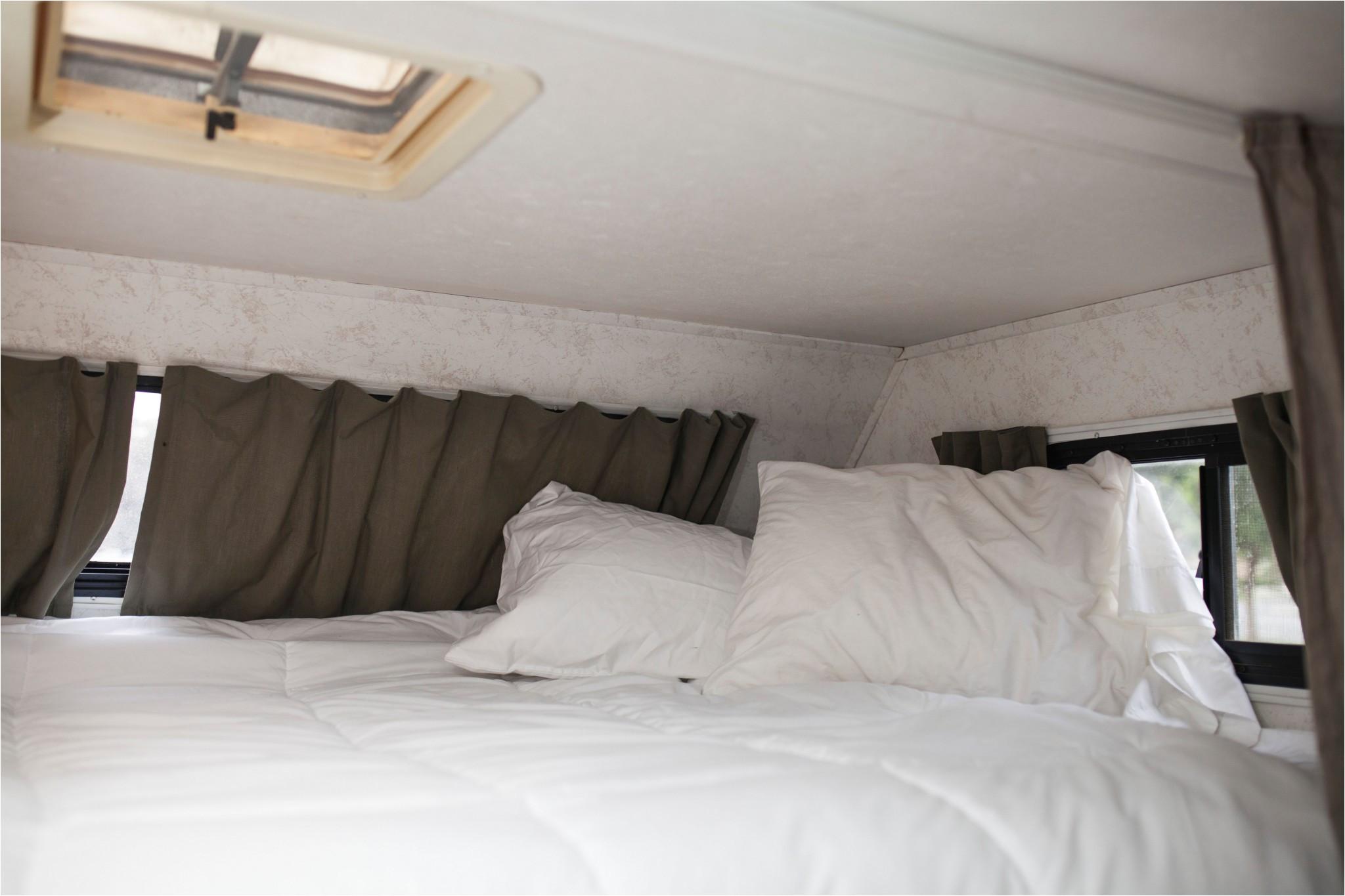 an overhead bunk in a class c