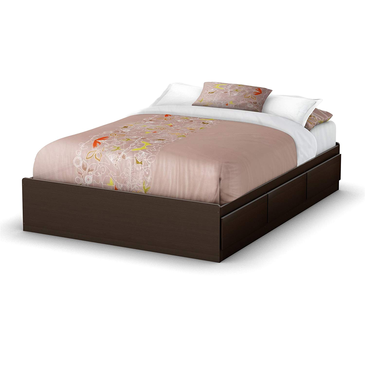 amazon com south shore 3159211 storage collection 54 inch full mates bed chocolate kitchen dining