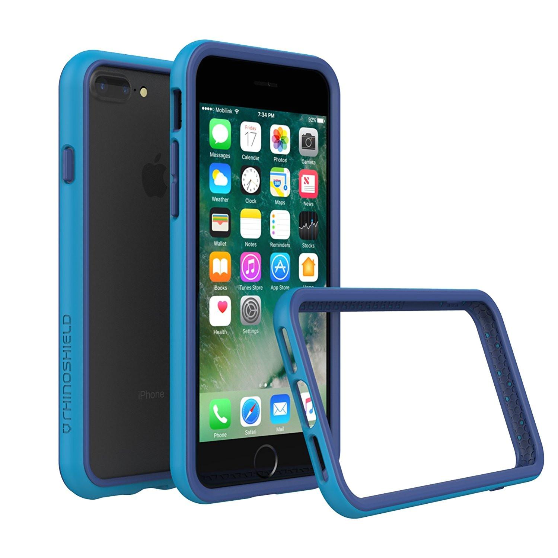 amazon com rhinoshield bumper case for iphone 8 plus iphone 7 plus crashguard shock absorbent slim design protective cover 3 5 m 11ft drop