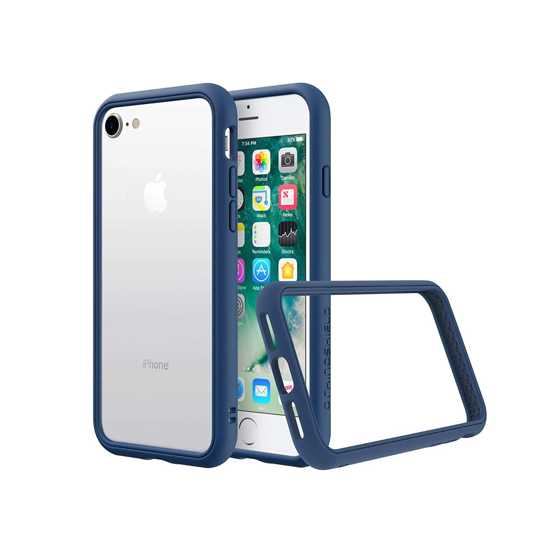 amazon com rhinoshield bumper iphone 8 7 crashguard nx shock absorbent slim design protective cover 3 5m 11ft drop protection royal blue cell