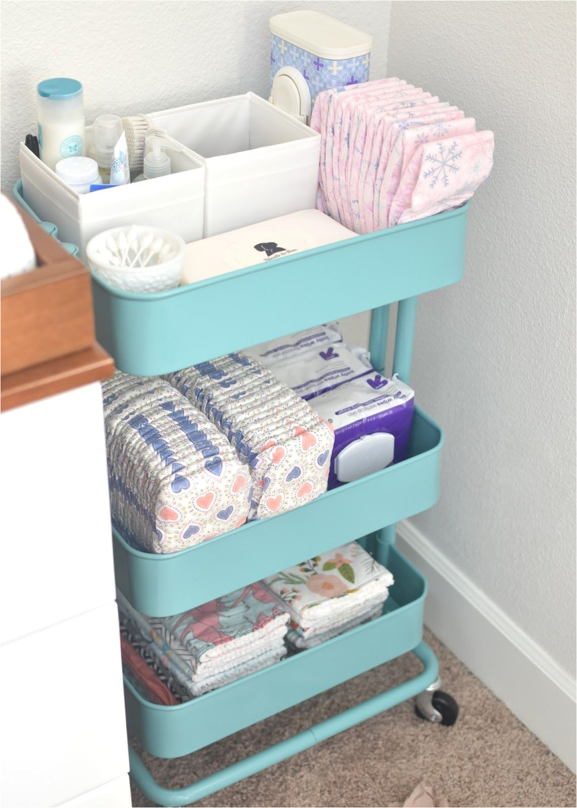 Rolling Cart with Drawers Ikea Convert An Ikea Rolling Cart to Changing Station Storage for Diapers