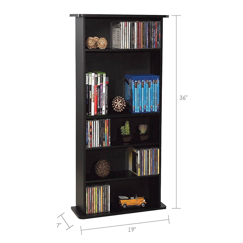 amazon com atlantic 37935726 drawbridge 240 p2 media cabinet black home kitchen