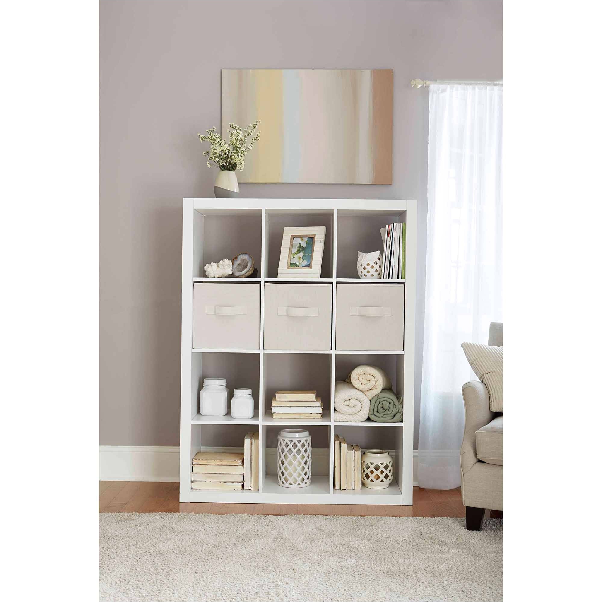 better homes and gardens 12 cube storage organizer multiple colors walmart com