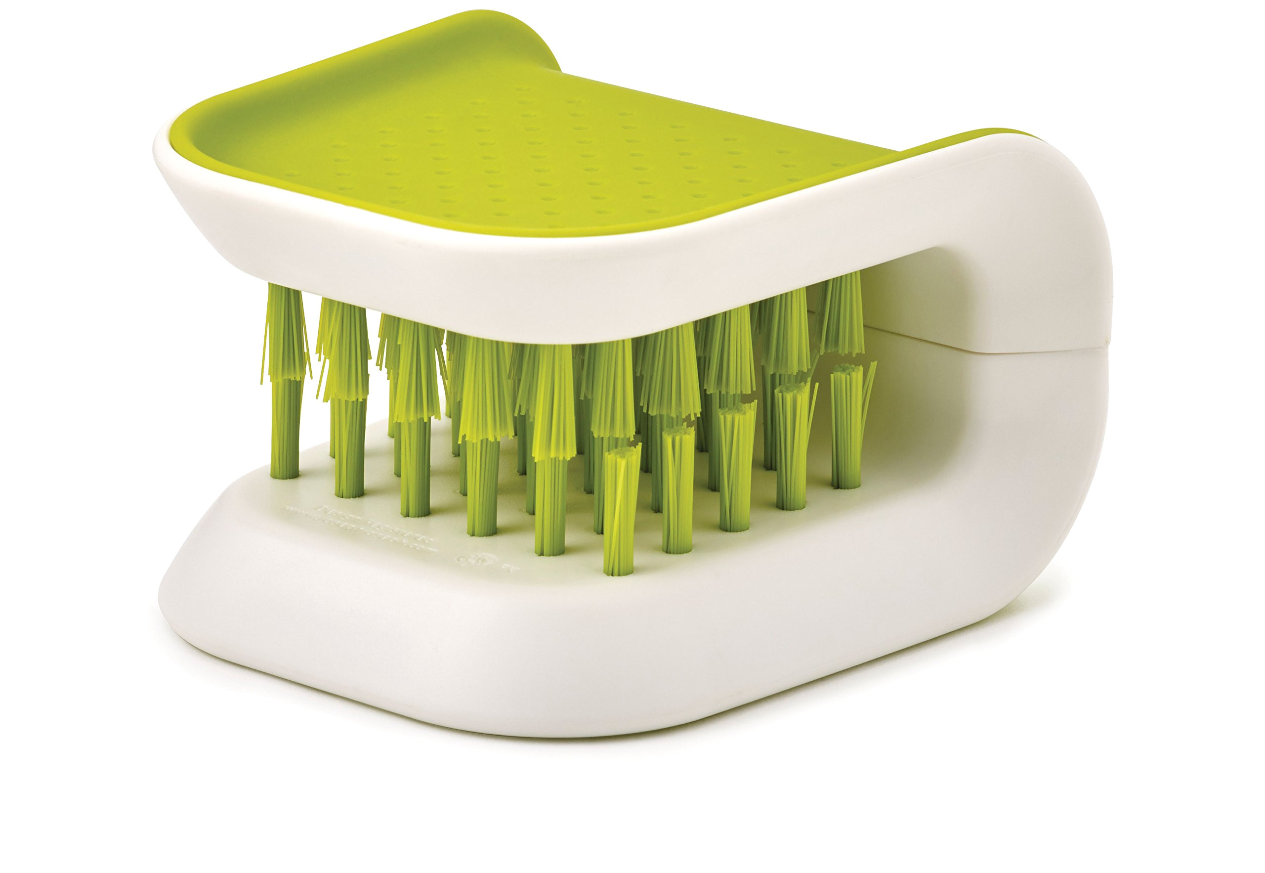 amazon com joseph joseph 85105 bladebrush knife and cutlery cleaner brush bristle scrub kitchen washing non slip one size green kitchen dining
