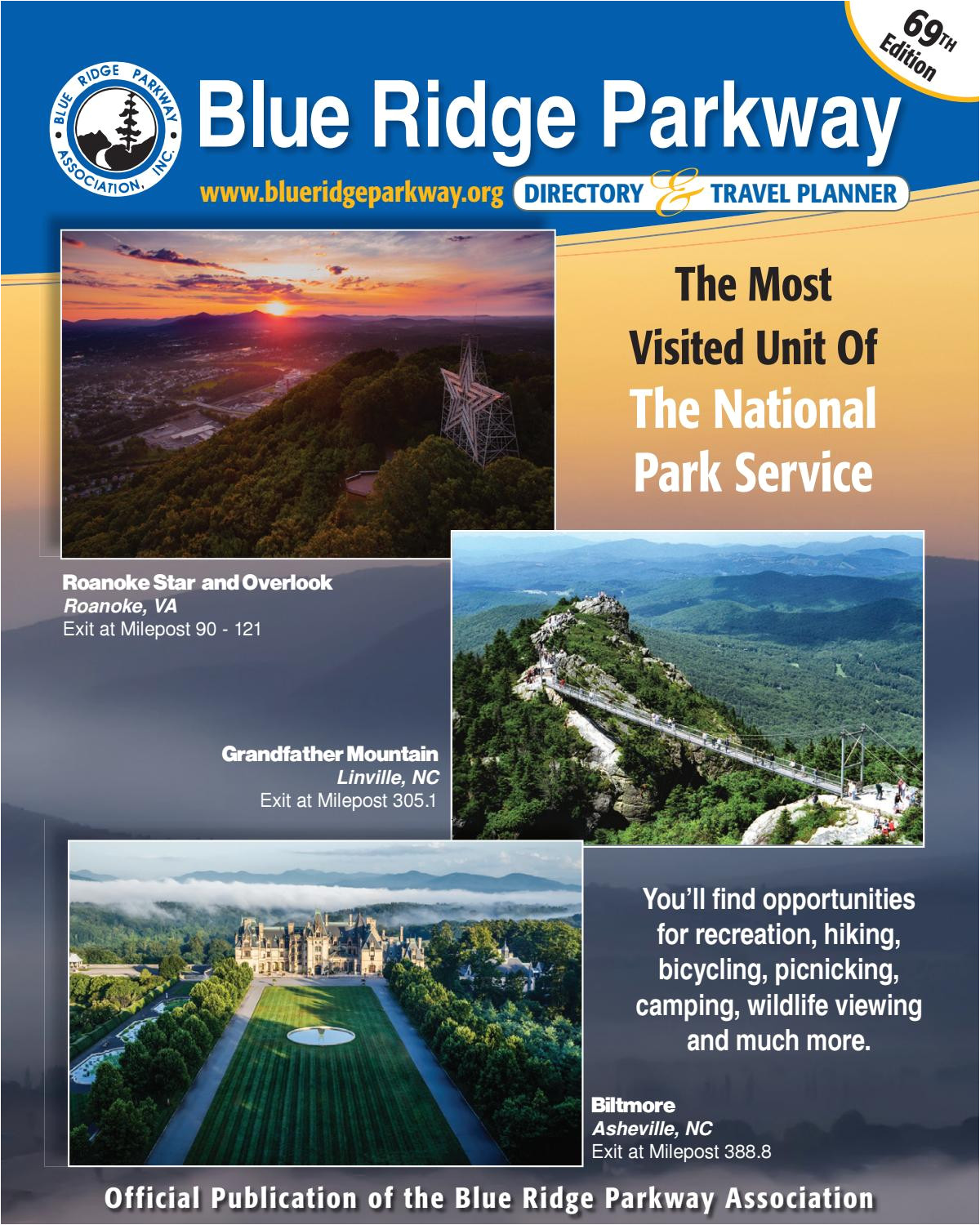 blue ridge parkway directory travel planner 69th edition by blue ridge parkway association issuu