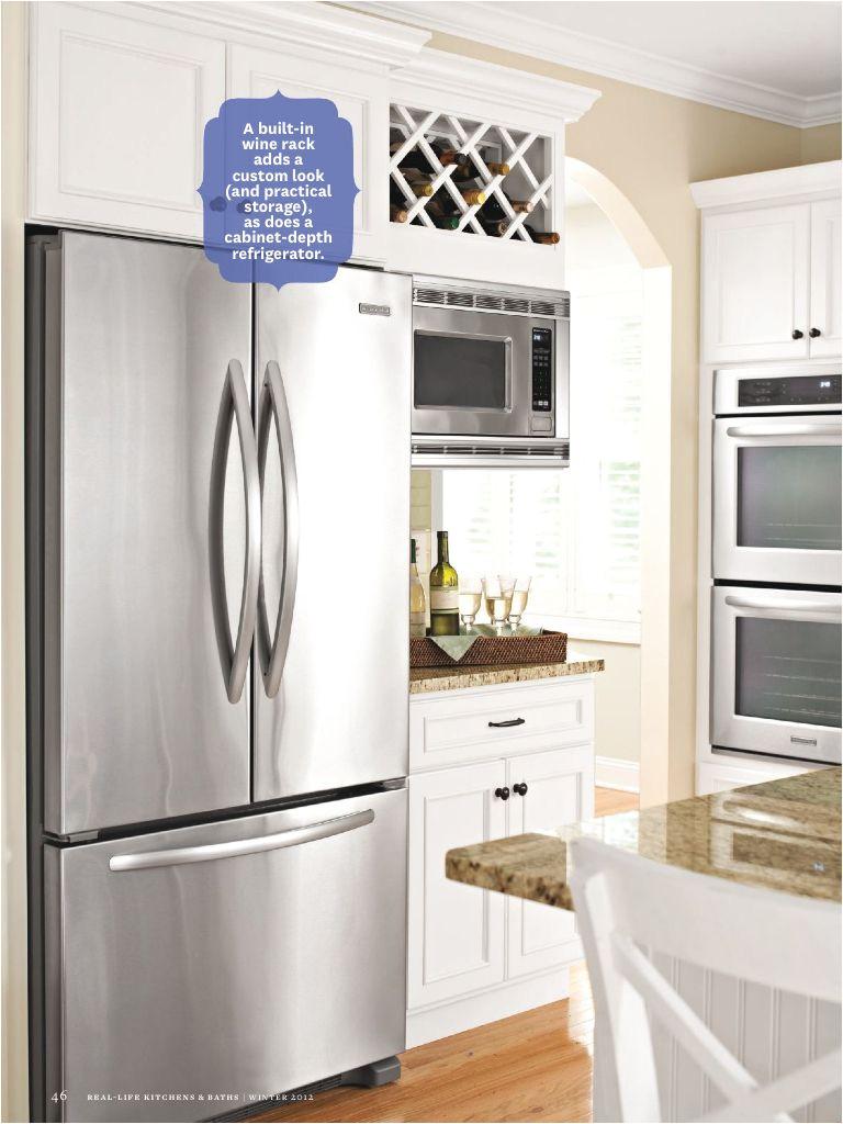 wine rack above microwave or fridge