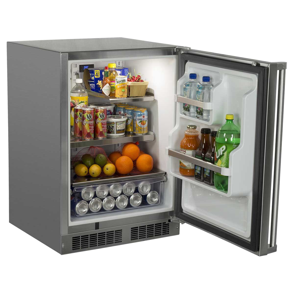 24 outdoor refrigerator with drawer and door storage mo24ras2