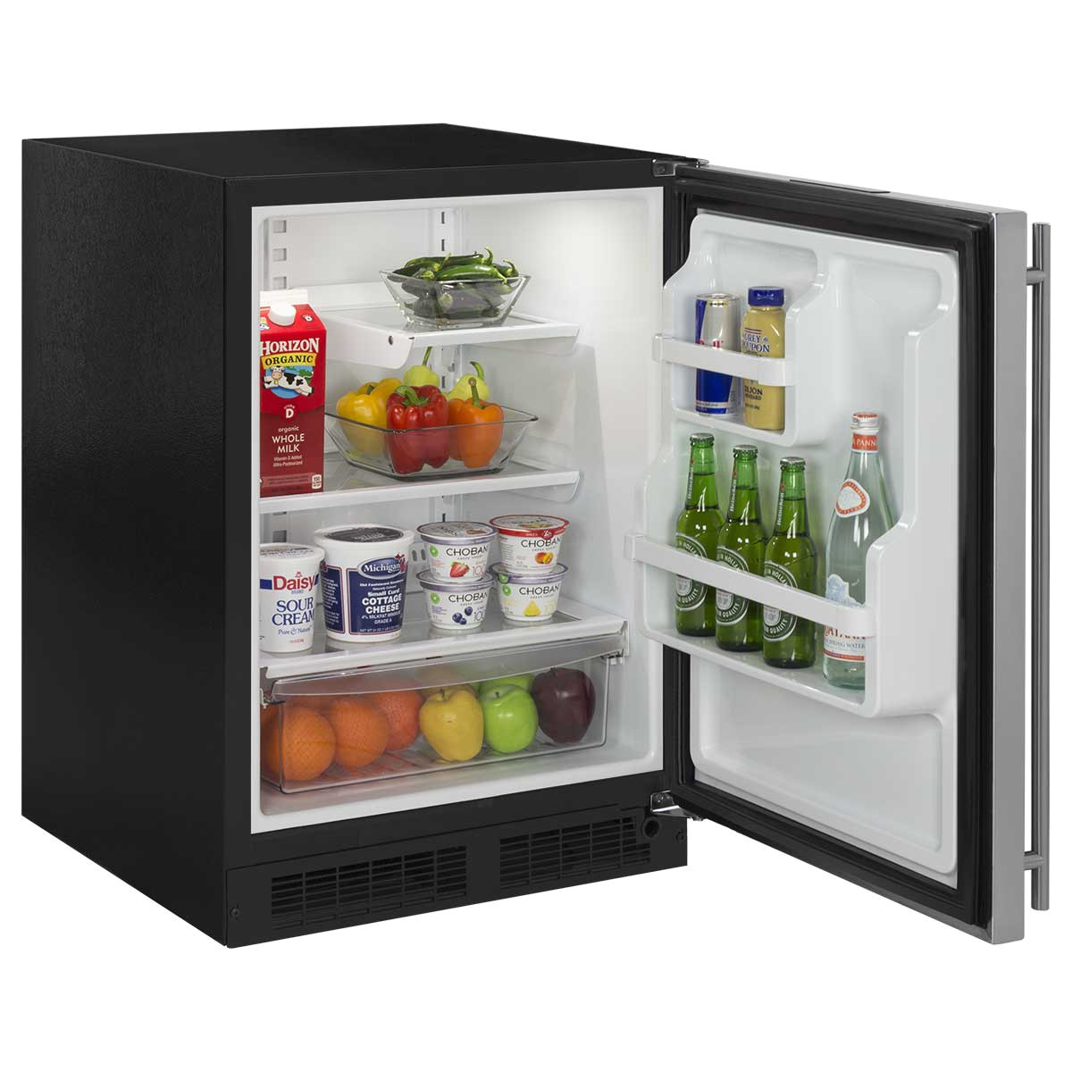 24 all refrigerator with drawer ml24ras2 a marvel undercounter refrigerator open