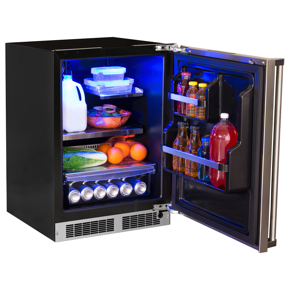 24 all refrigerator with drawer storage